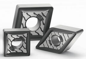 Cutting Inserts comes in geometries for cast iron machining.