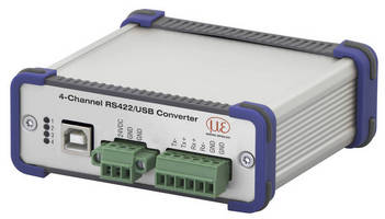 RS422/USB converter lets computers accommodate optical sensors.
