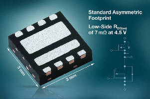 Asymmetric Dual N-Channel MOSFET features low on-resistance.