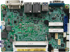 Embeded 3.5 in. SBC leverages 4th Gen Intel� Core(TM) U-series CPUs.