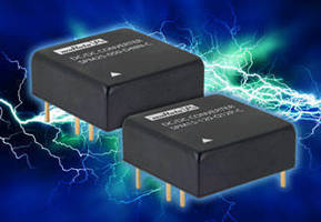 Isolated, Encapsulated DC/DC Converters suit harsh environments.