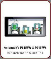 Industrial LCD Monitors feature widescreen multi-touch design.