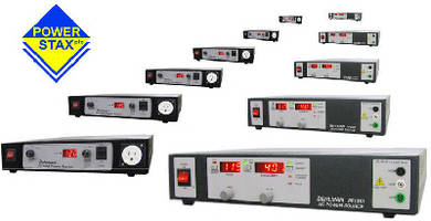 Bench Top Power Supplies provide frequency conversion.