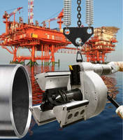 Pipe Beveling Tool End preps offshore piping systems.