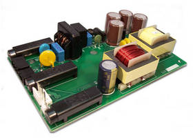 AC/DC Converter with Aux DC Input has self-monitoring feature.