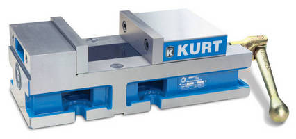 Single-Station CNC Vises feature one-piece body, stationary jaw.