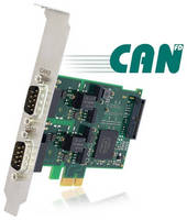 Interface Cards support CAN and CAN FD standards.