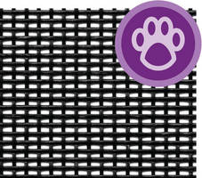 Insect Screen is resistant to flames and damage by pets.