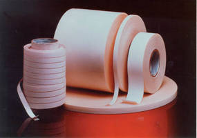 Translucent Acrylic Pressure-Sensitive Tape bonds clear materials.
