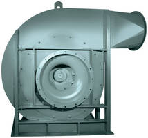 Pressure Blower features backward inclined wheel.