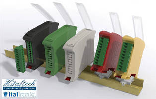 DIN Rail Mounting Enclosures feature low profile design.
