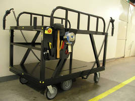 Motorized Stock Picking Cart safely moves up to 2,000 lb payloads.