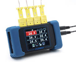 Temperature Data Logger features 6 channels.