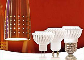 LED MR16 Lamps replace halogens in indoor applications.