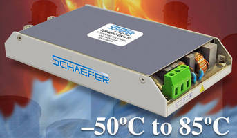 Low-Profile AC/DC Power Supplies operate from -50 to +85°C.