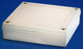 Molded Plastic Electronics Enclosure carries IP67, NEMA ratings.
