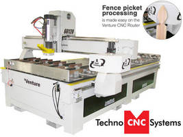 CNC Router facilitates fence picket processing.