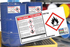 Chemical Drum Labels meet GHS regulations.
