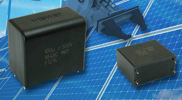 Metallized PP Film Capacitor suits DC-link applications.