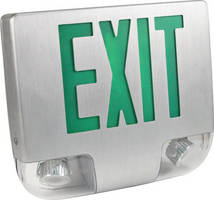 Emergency/Exit Light features adjustable LED lamps.