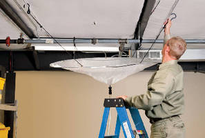 Roof Leak Diverter Kit opens in less than 2 minutes.
