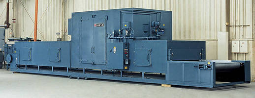Natural Gas Belt Conveyor Oven reaches temperatures to 350°F.