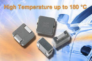 High-Current Inductor operates continuously up to 180°C.