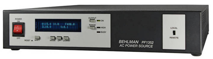 AC Source/Frequency Converter/Inverter serves multiple markets.