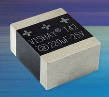 Hi-Rel Solid Tantalum Chip Capacitors feature built-in fuse.