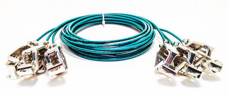 Custom Grounding Cables/Clips promote workplace safety.