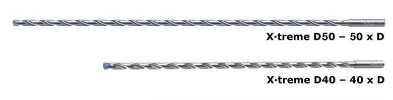 Solid Carbide Deep-Hole Drills reach depth of 50 x diameter.