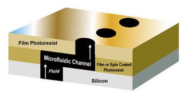 Dry Film Negative Photoresist produces hydrophobic surfaces.