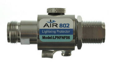 Lightning Arrestor/Surge Protector supports 0-6 GHz.