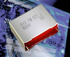 Polypropylene Film Capacitors range from 0.010-0.47 µF.