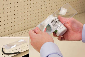 POS Magnifier helps customers read small print on labels.