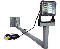 LED Work Area Dock Light features adjustable pivoting arm.