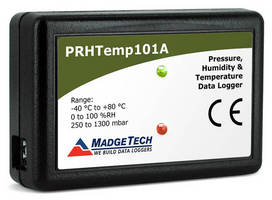 Multifunction Datalogger records pressure, humidity, temperature.