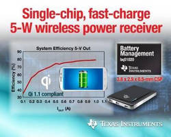 Wireless Power Receivers accelerate cooler, efficient charging.