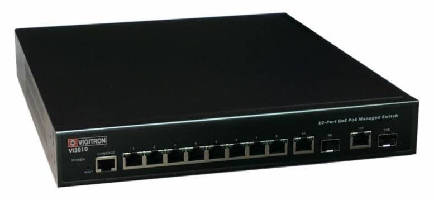 PoE Switch supports IP cameras.