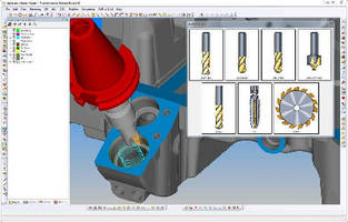 CAD/CAM Software optimizes 5-axis toolpaths.
