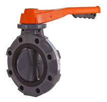 Butterfly Valve features one-piece thermoplastic body.