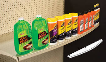 Powder-Coated Steel Shelf Extension enhances existing displays.