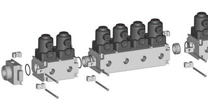 Plastic Multi-Port Valve Blocks are customizable and expandable.