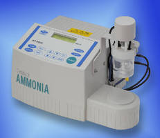 Ammonia Analyzer utilizes coulometric titration technology.