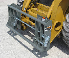 Skid Steer Adapter supports Euro/Global attachments.