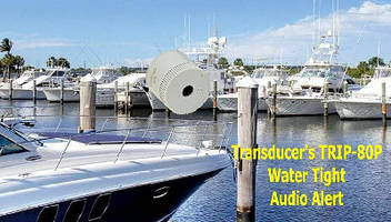 Watertight Audio Alerts suit marine applications.