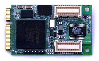 Rugged DAQ PCIe MiniCard Module adds I/O to embedded applications.