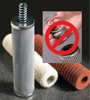 Process Filter Elements simplify use via integral spring.
