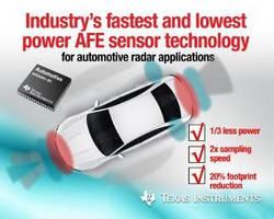 Analog Front End Sensor  detects road hazards.