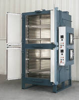 Electrically Heated Universal Style Oven has 2 compartments.